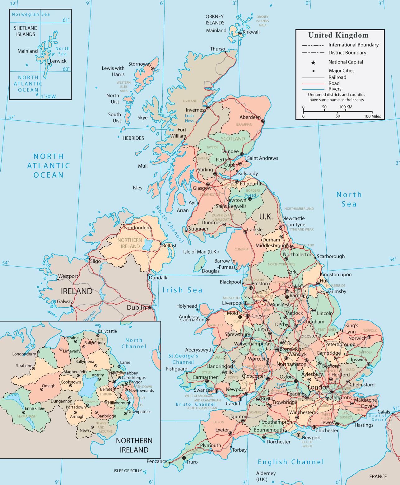 United Kingdom Map - H...