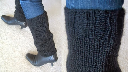 Simple Knitted Legwarmers pattern - still time to make before Christmas