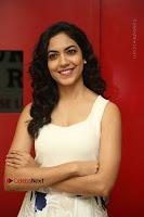 Actress Ritu Varma Stills in White Floral Short Dress at Kesava Movie Success Meet .COM 0068.JPG