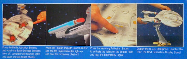 Star Trek Enterprise-D Battle Damage Playmates Bandai Germany