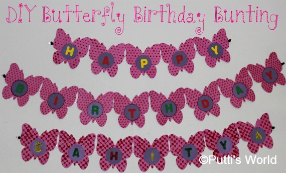 DIY Butterfly Birthday Bunting Kids Party