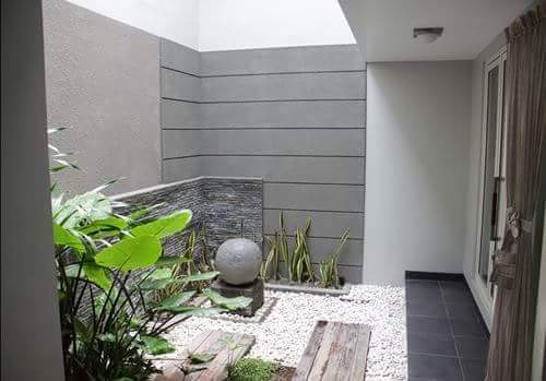 Taman Rumah Minimalis di dalam sudut rumah