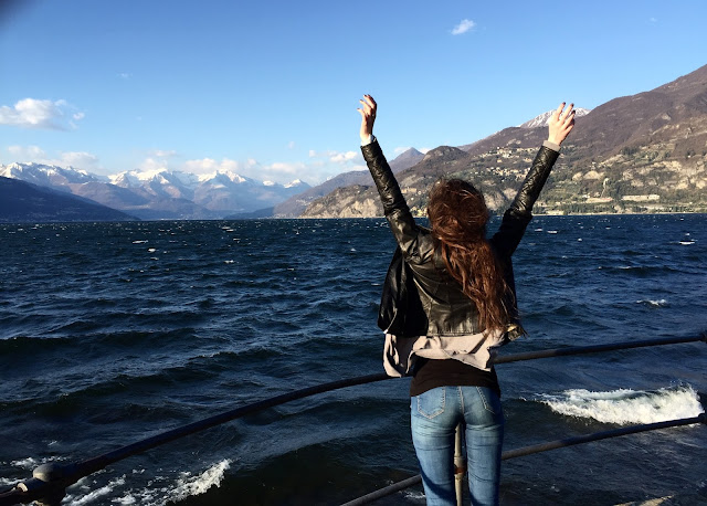 Girl in Bellagio Italy