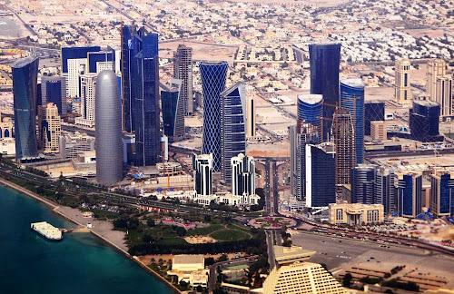 Doha center aeiral view