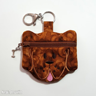 Puppy Dog Coin Purse, Earbud Pouch