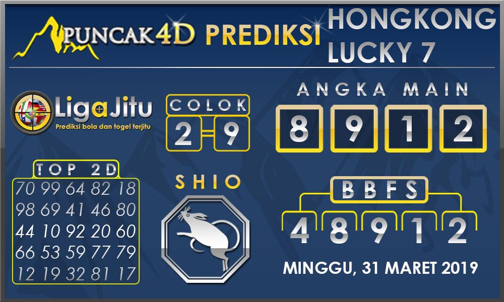 PREDIKSI TOGEL HONGKONG LUCKY7 PUNCAK4D 31 MARET 2019