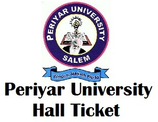 Periyar University PRIDE Exam Hall Ticket 2017