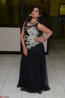 Shrisha Dasari in Sleeveless Short Black Dress At Follow Follow U Audio Launch 027.JPG