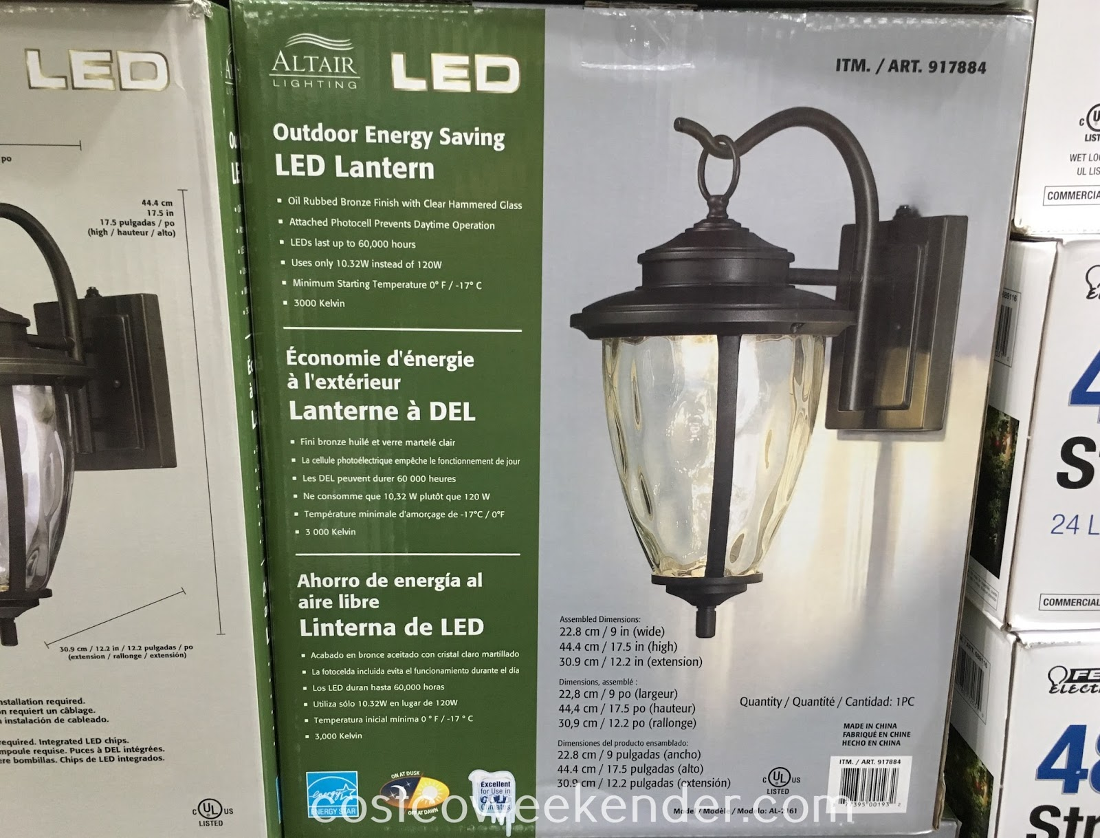 Costco Led Outdoor Lights Outdoor Led Lantern Www Hempzen