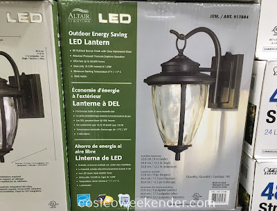 Make the switch to LED with the Altair Outdoor LED Coach Lantern