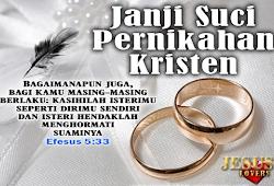 Kata Mutiara Pernikahan Kristen