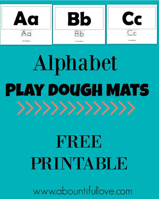 Free alphabet play dough mats printable
