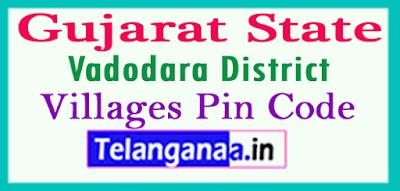Vadodara Pin Codes in Gujarat State