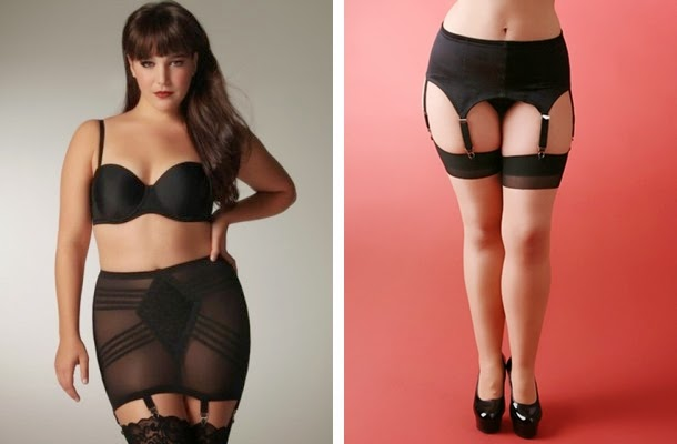 plus size vintage style 1950s pin up girdle and garter belt
