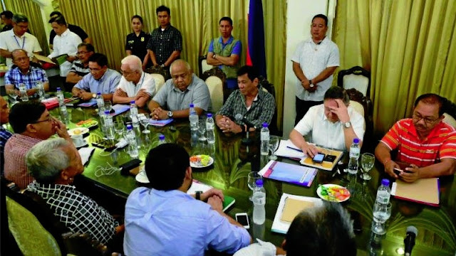 Duterte's first meeting with the cabinet secretaries