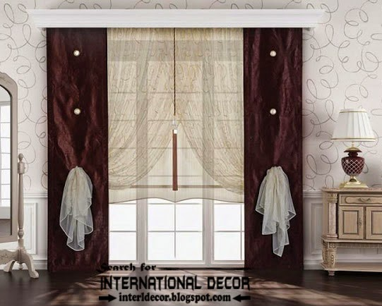 20 best modern curtain designs 2017 ideas and colors. Black Bedroom Furniture Sets. Home Design Ideas