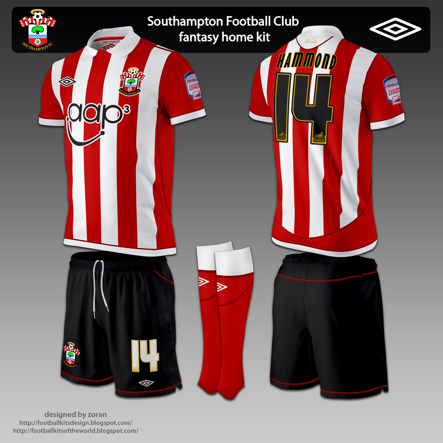 The home kit is classic Southampton FC style 61476c924