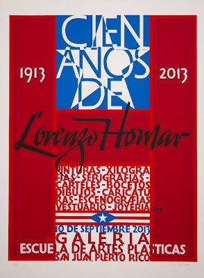 Cartel de la muestra 100 años de Lorenzo Homar