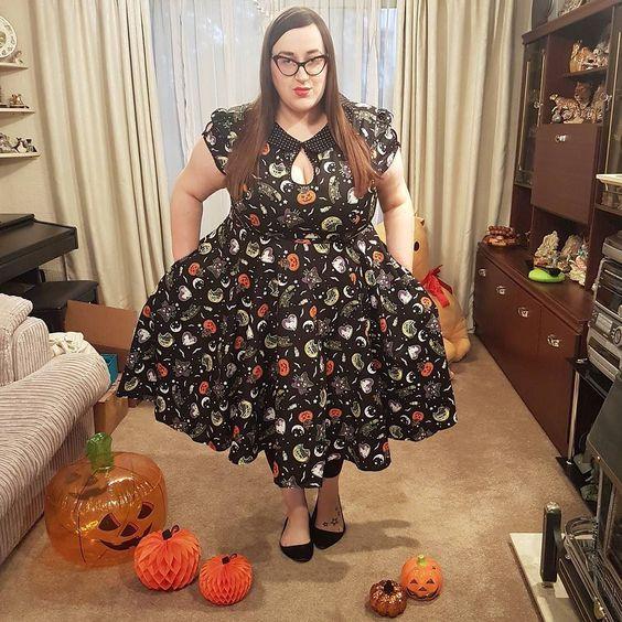 Hell Bunny Salem 50's plus size dress