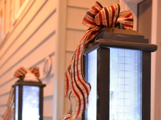Large DIY Outdoor Scrap Wood Holiday Lanterns