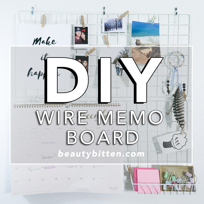 Wall Wire Board for organizing, wire moodboard