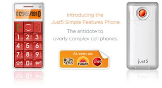 Just5 special mobile phone for kids, elders and specials, ENTERS US