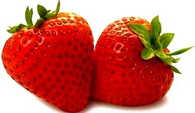 Foto de fresas rojas brillantes