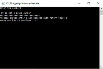 Checking prime number output 1