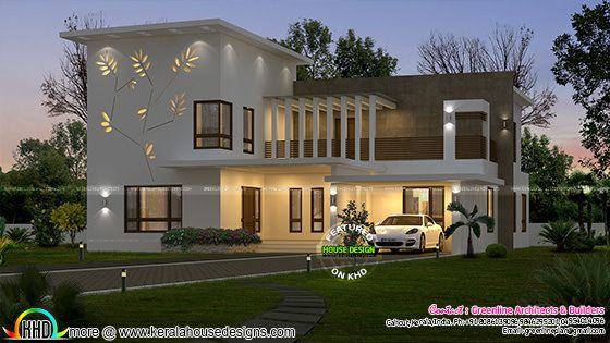 Decorative tree wall home design