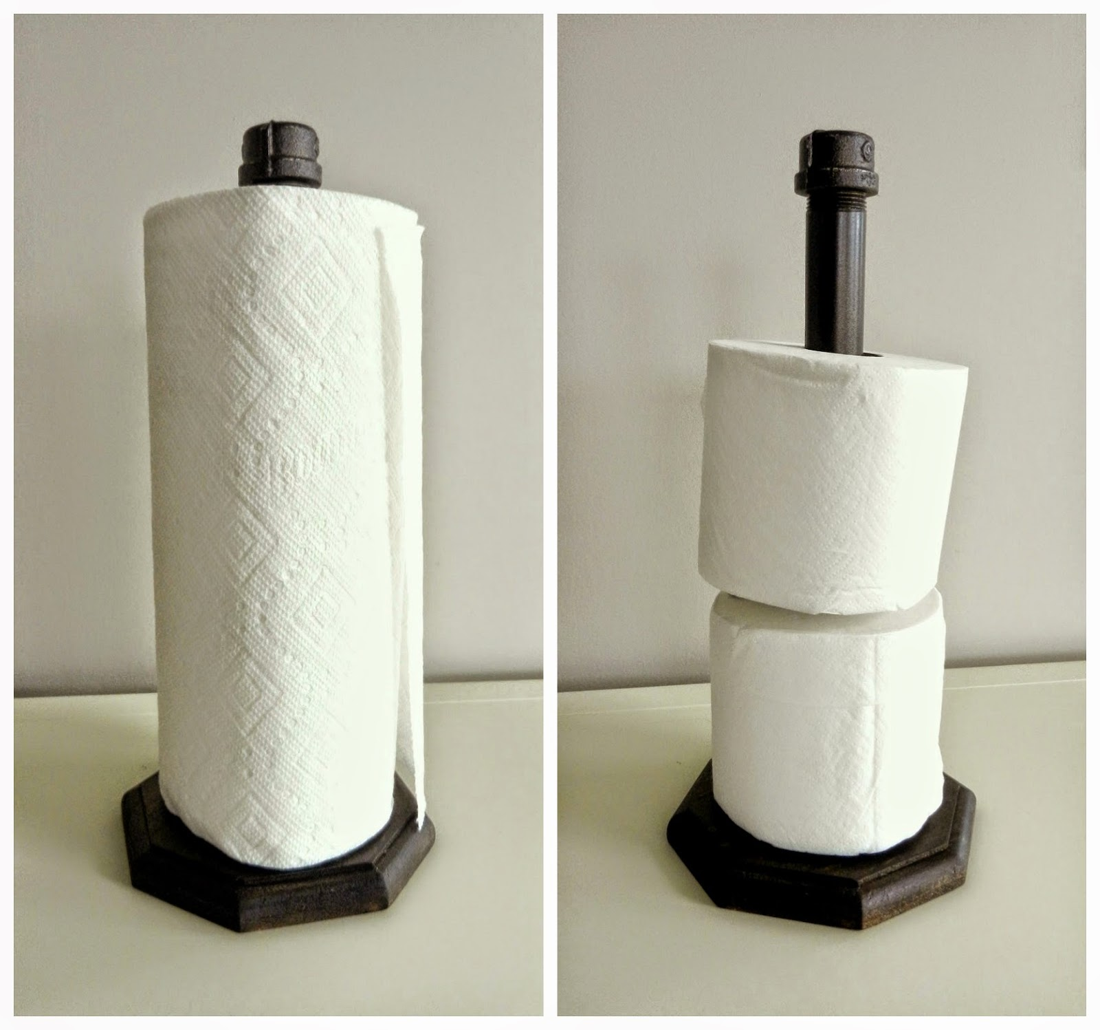 Industrial Paper Towel Holder {Tutorial}