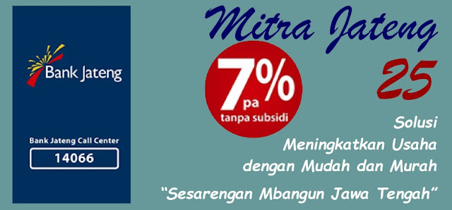 Syarat Kredit Tanpa Agunan Mitra 25 Bank Jateng 2017