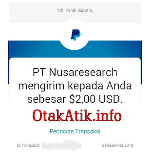 bukti pembayaran payment proof nusaresearch