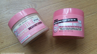 Soap and Glory, beauty, Body butter, exfoliator, Moisturiser, Righteous Butter, Skincare, Smoothie Star Breakfast scrub,