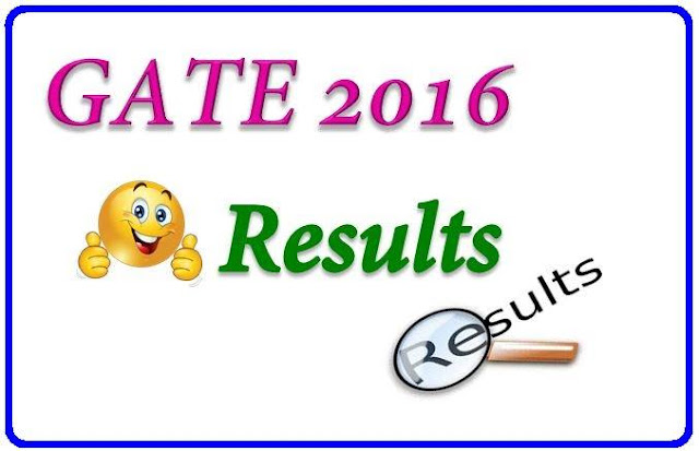 Gate 2016 Result with Marks Ranks