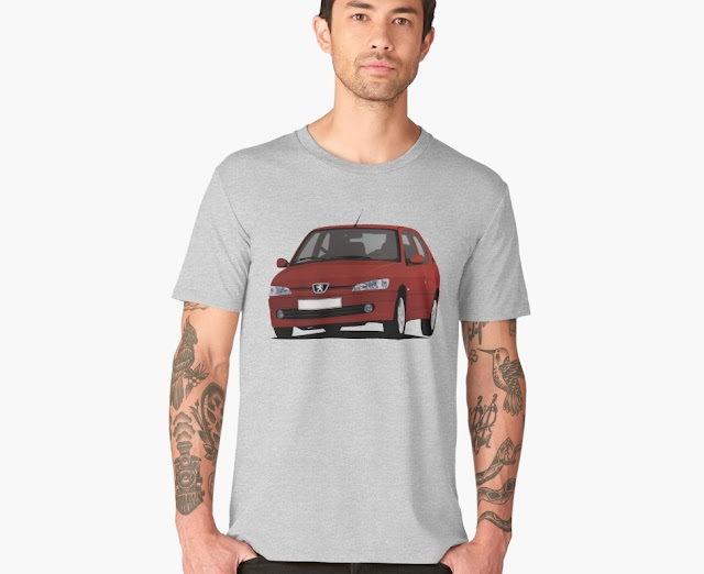Red Peugeot 306 GTi-6 T-shirt