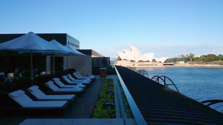 Park Hyatt Sydney rooftop pool, view of Sydney Opera House, Australia, Euriental