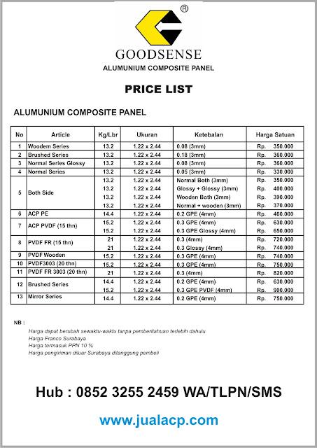 harga acp goodsense surabaya | harga acp murah surabaya