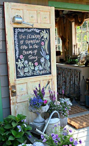 Dishfunctional Designs How To Use Old Doors In Your Garden
