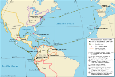 Humboldts reis naar Midden- en Zuid-Amerika, 1799-1804