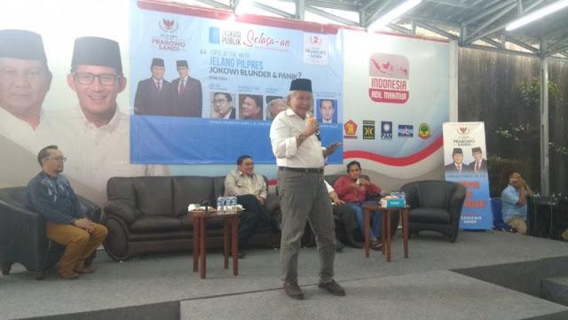 Ridwan Saidi: Ke Mane Kite Pergi, di Situ Ada Prabowo-Sandi