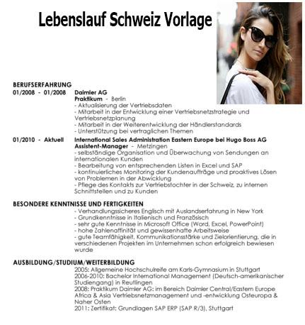 lebenslauf schweiz vorlage 1 - Lebenslauf Schweiz
