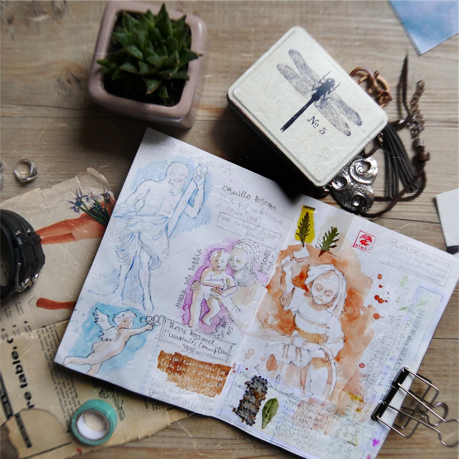 Watercolor sketchbook France Nimes