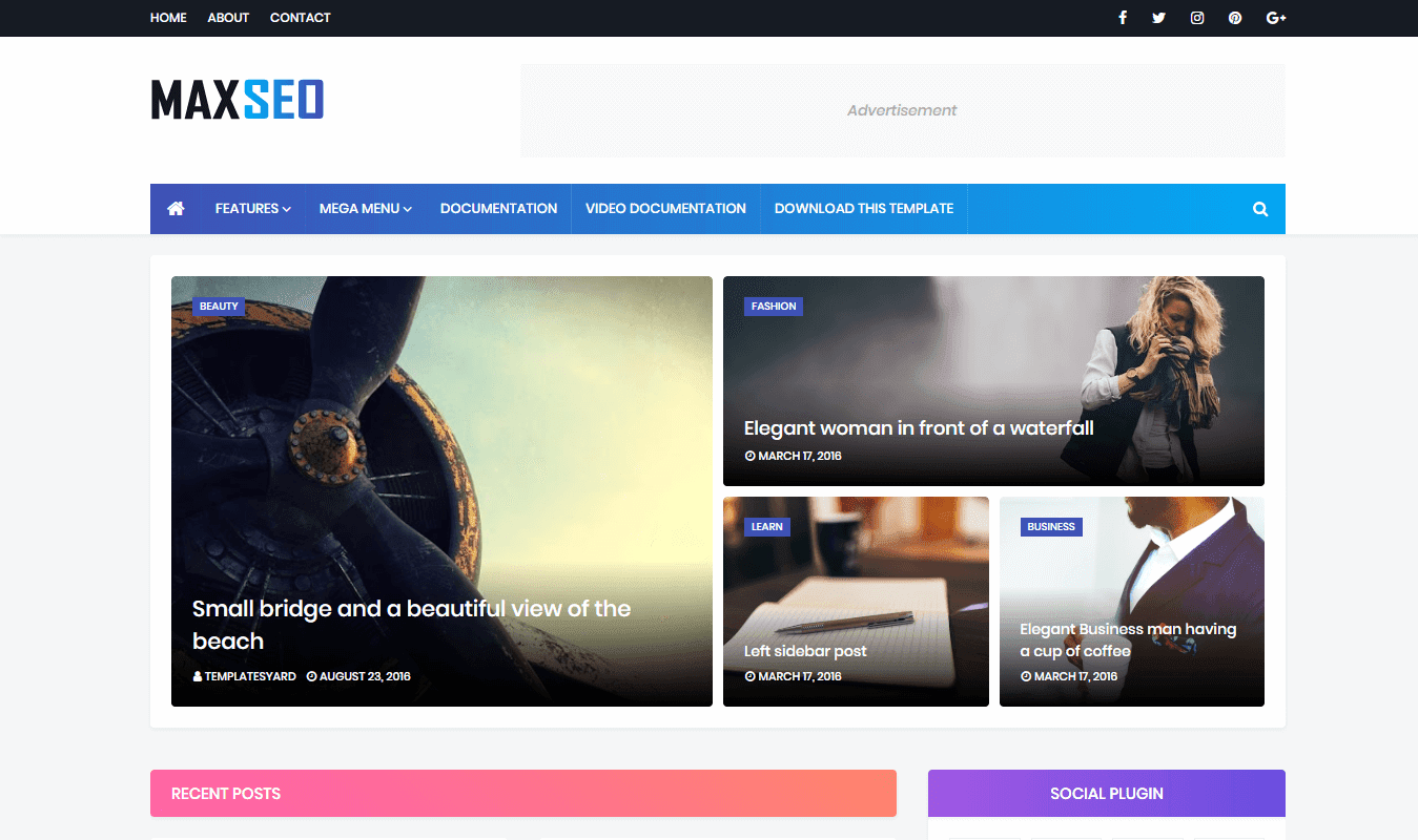 MaxSeo Blogger Template