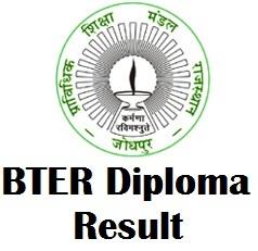 BTER Jodhpur Diploma Result 2017