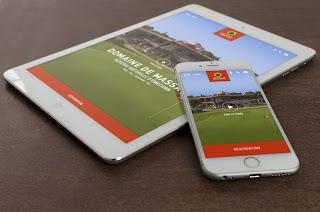Site responsive design du Domaine de Montpellier Massane