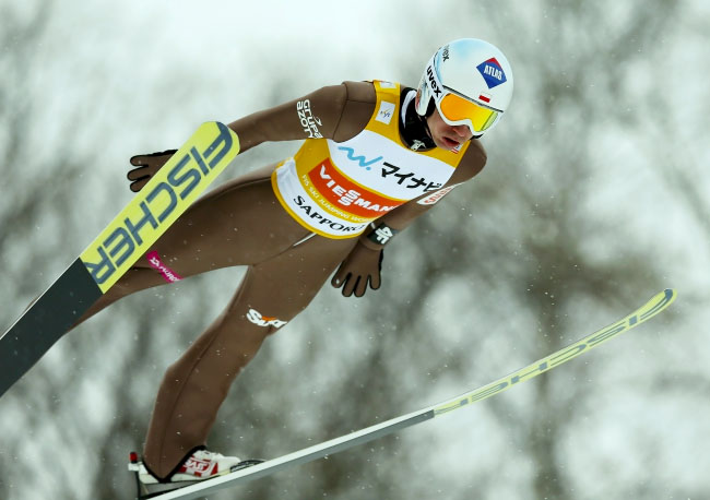 Poland's Kamil Stoch won Sunday ski jumping competition
