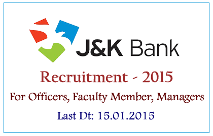 Jammu and Kashmir Bank Ltd Recruitment 2015
