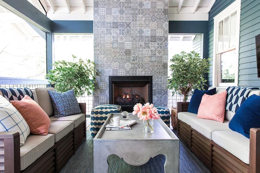 Niebieskie szaleństwo - metamorfoza całego domu, wystrój wnętrz, wnętrza, urządzanie mieszkania, dom, home decor, dekoracje, aranżacje, niebieski, blue, before and after, weranda