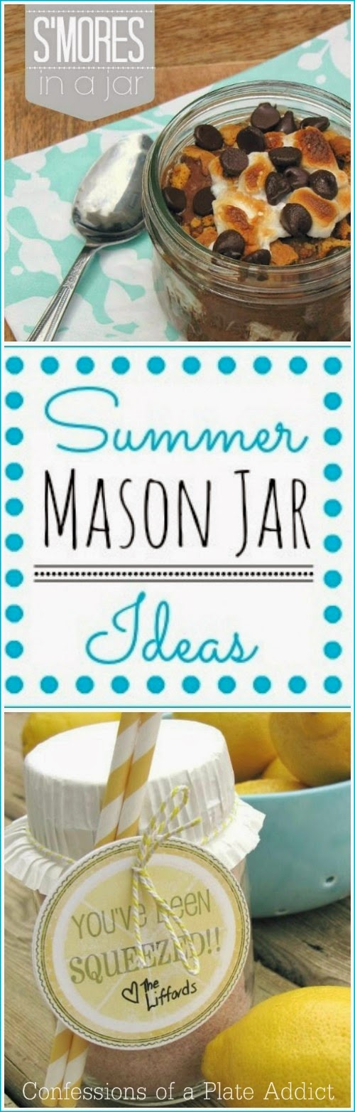 Confessions Of A Plate Addict Fun And Easy Summer Mason Jar Ideas
