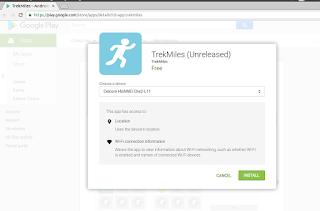 TrekMiles App Permissions